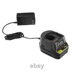 Ryobi Conducteur De Forage Combo Kit 18v Chargeur De Batterie Au Lithium-ion Inclus (5-outil)