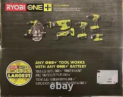 Ryobi Kit Combo Sans Fil 6 Outils 18-v One+ Lith-ion 2 Batteries Chargeur Sac P1819