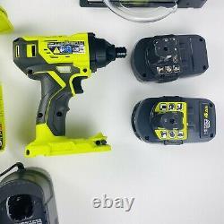Ryobi P1819 18v One+ Cordless 5 Tool Combo Kit / Missing Reciprocating Saw