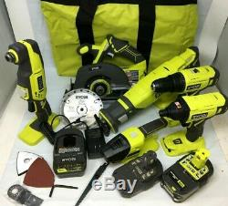 Ryobi P1819 18v One + Sans Fil 6 Combo Impact Tool Set Kit Drill Pilote Scie, R675