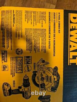 Scellé Dewalt 20v Max Lithion-ion 5-outil Combo Kit Dckss520d2 Flambant Neuf