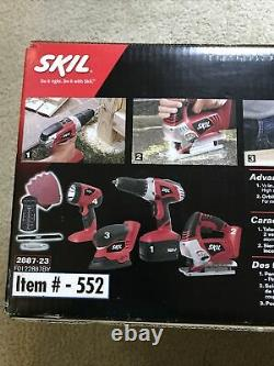 Skil 2887-23 Combo Sans Fil 18v 4-tool Kit. Grande Nouvelles En Box