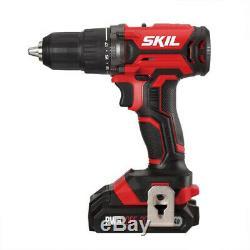 Skil Cb739601 20v Combo 4-tool Kit Drill, Tournevis À Percussion, Scies Sauteuses, Lumière