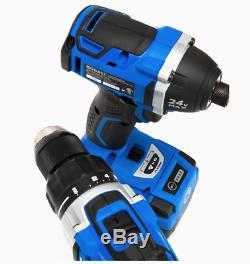 Tout Neuf Kobalt 2 Outils 24volt Max Brushless Power Tool Kit Combo Avec Étui Souple