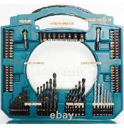Véritable Makita Mechanic Multi Hand Tool Kit Box & Driver Drill Bit Set 103 Pcs